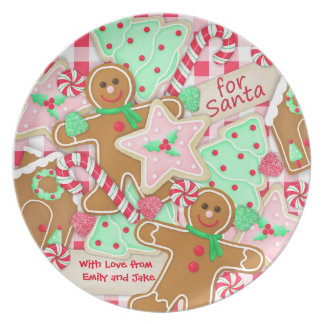 """For Santa, With Love"" Personalized Cookie Plate"
