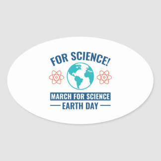 For Science! Oval Sticker