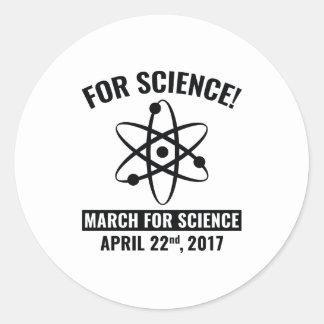 For Science! Round Sticker