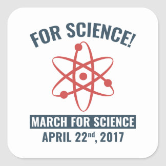 For Science! Square Sticker