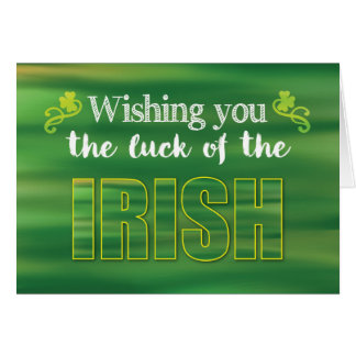 For Secret Pal Luck of the Irish, Green St. Patric Greeting Card