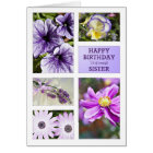 For Sister,Lavender hues floral birthday card