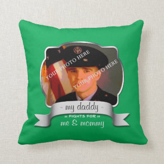 For Son of Overseas Soldier - Green Pillow