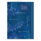 For Son on Father's Day Customizable Cards