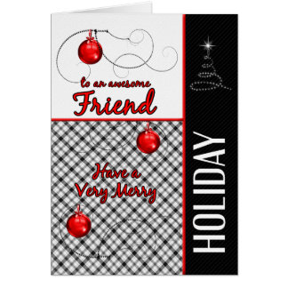 for Sporty Friend Red and Black Christmas Card
