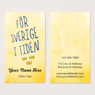 För Sverige i Tiden Swedish Motto Business Cards