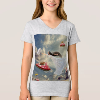 For T-shirt girl Woman dreaming