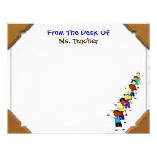 For Teacher, Cute School Kids Desktop Letterhead