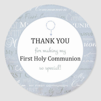 For Thank you coming Boy First Holy communion tag