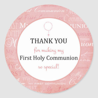 For Thank you coming - First Holy communion tag -
