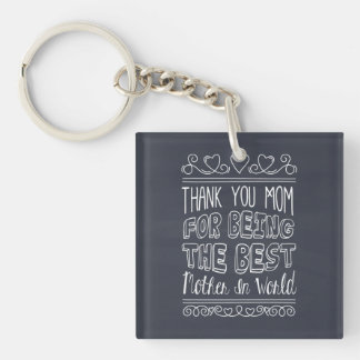 For The Best Mom in the World Keychain