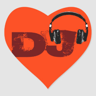 for the DJ Heart Sticker