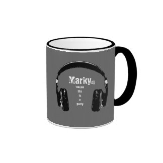for the dj ringer coffee mug