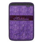 For the Feminine Fashionista Purple Cheetah Sleeve For MacBook Air