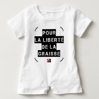 For the FREEDOM OF GREASE - Word game Baby Romper