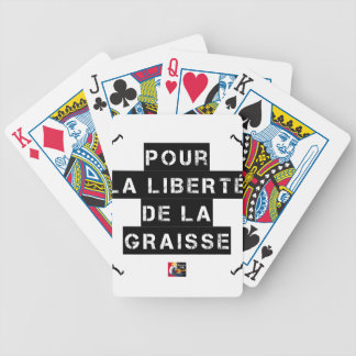 For the FREEDOM OF GREASE - Word game Bicycle Playing Cards