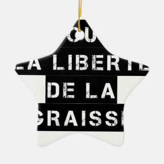 For the FREEDOM OF GREASE - Word game Ceramic Ornament