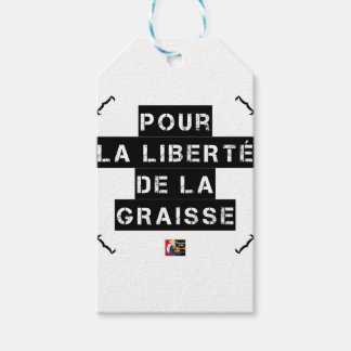 For the FREEDOM OF GREASE - Word game Gift Tags