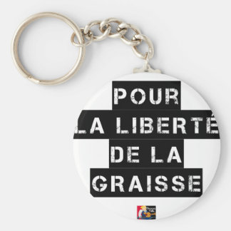 For the FREEDOM OF GREASE - Word game Keychain