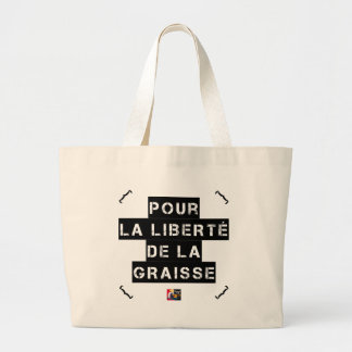 For the FREEDOM OF GREASE - Word game Large Tote Bag