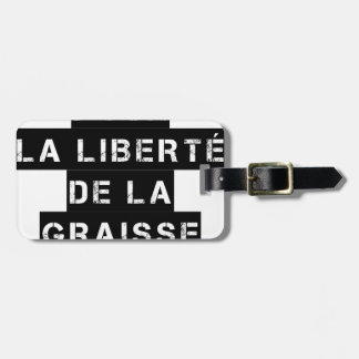 For the FREEDOM OF GREASE - Word game Luggage Tag