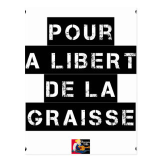 For the FREEDOM OF GREASE - Word game Postcard