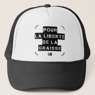 For the FREEDOM OF GREASE - Word game Trucker Hat