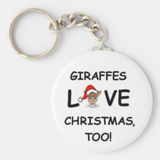 For the GIRAFFE collector for Christmas! Basic Round Button Keychain