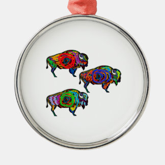 FOR THE HERD Silver-Colored ROUND ORNAMENT