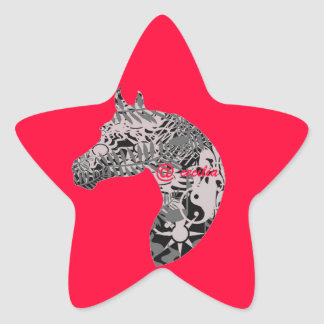 For the Horse Lover , Horse Collection Star Sticker