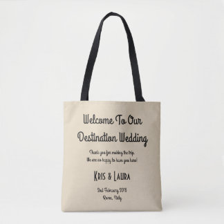 For the Love - Destination Wedding Guest Tote Bag