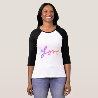 For the Love - Ladies Long Sleeve Ombre Love Tee
