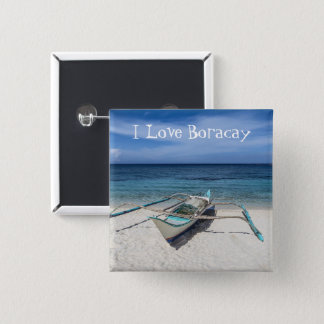 For the Love Of Boracay 2 Inch Square Button