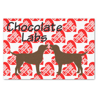 For The Love of Chocolate Lab Dogs Tissue Paper