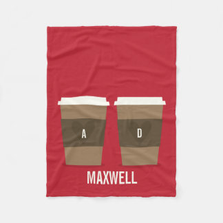 For the Love of Coffee Fleece Blanket