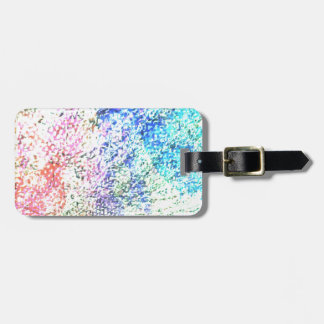 For the Love of Colour - Kaleidoscope Pastel Luggage Tag