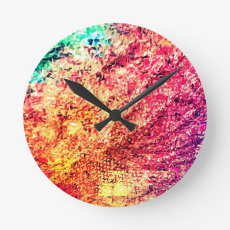 For the Love of Colour - Kaleidoscope Round Clock