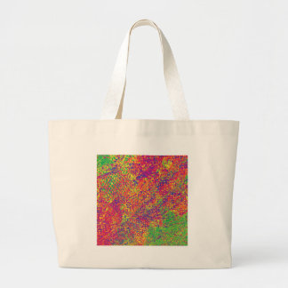 For the Love of Colours - Psychadelic Large Tote Bag