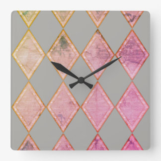 For the Love of Decor - Geo Square Clock