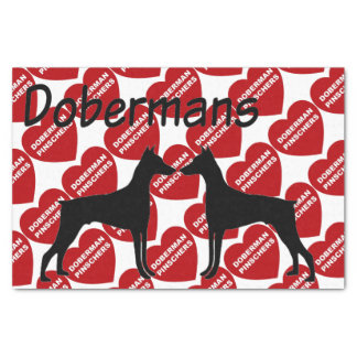 For The Love of Doberman Pinscher Dogs Tissue Paper
