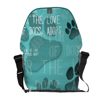 For the love of dogs, adopt - Rickshaw Messenger B Courier Bag