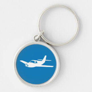 For the love of flying blue airplane keychain
