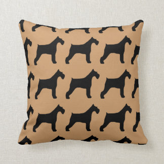 For the Love of Giant Schnauzers Throw Pillow