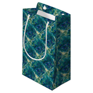 For the Love of Giving - Blue Watercolour Small Gift Bag