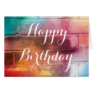 For The Love of Giving - Happy Birthday Card