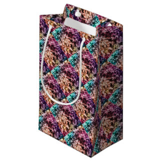 For the Love of Giving - Multi Colour Floral Small Gift Bag