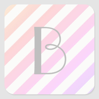 For the Love of Giving - Ombre Stripe Sticker