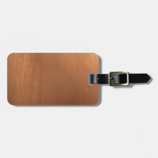 For the Love of Metallics - Copper Glimmer Luggage Tag