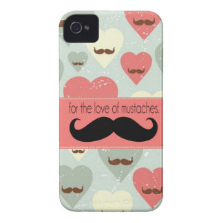 For The Love of Mustache iPhone 4 Case-Mate Case