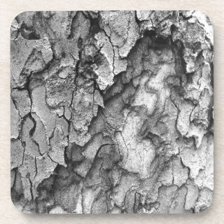 For the Love of Nature - Black & White Bark Coaster